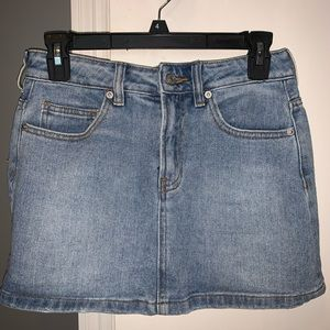 Brandy Melville denim mini skirt
